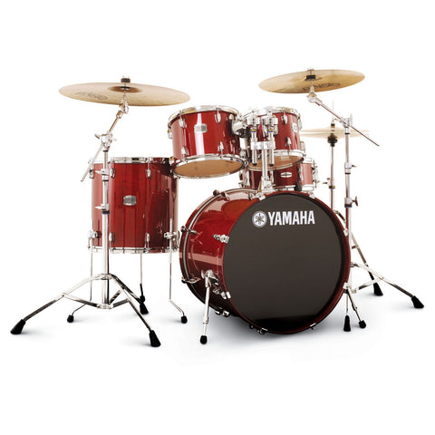 Yamaha Stage Custom Birch 10/12/16/22/5.5x14 5pc Kit Cranberry Red Floor Model