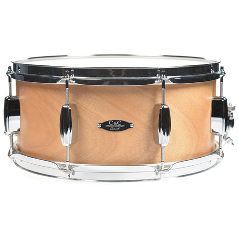 C&C 6.5x14 Player Date 1 Snare Drum Natural Mahogany