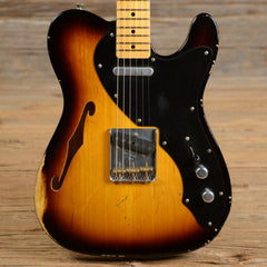 Fender Custom Shop Telecaster Thinline Relic Sunburst 2010 (s958)