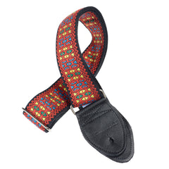 "Souldier Hendrix Monterey Red 2"" Guitar Strap w/Black Belt & Ends"