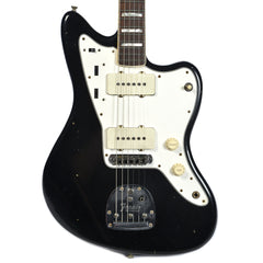 Fender Custom Shop 1966 Jazzmaster Journeyman Relic RW Aged Black w/Lollar Pickups & Painted Headcap (Serial #R89045)