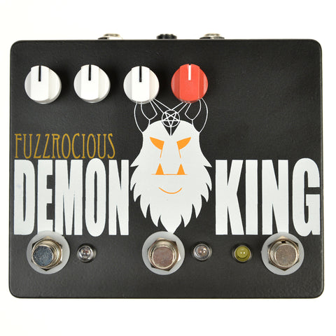 Fuzzrocious Demon King Med/High Overdrive w/Latching Feedback CME Exclusive Black/Orange