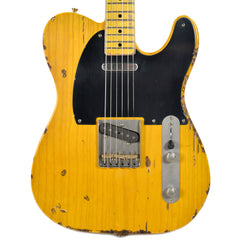 Nash T-52 Amber Medium/Heavy Aging w/1-Ply Black Pickguard & Lollar Pickups (Serial #NG3782)