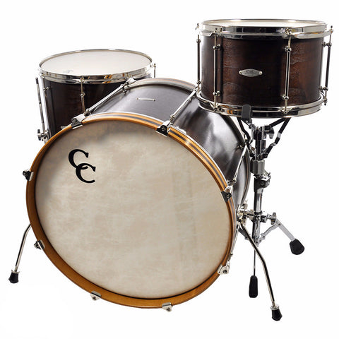 C&C 3pc Drum Kit 13/16/22 Walnut/Poplar/Maple w/Long Tube Lugs