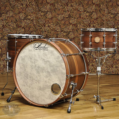 Anchor Drums Galleon 14/16/26 3pc Drum Kit Vintage Mahogany w/Mahogany Stripe