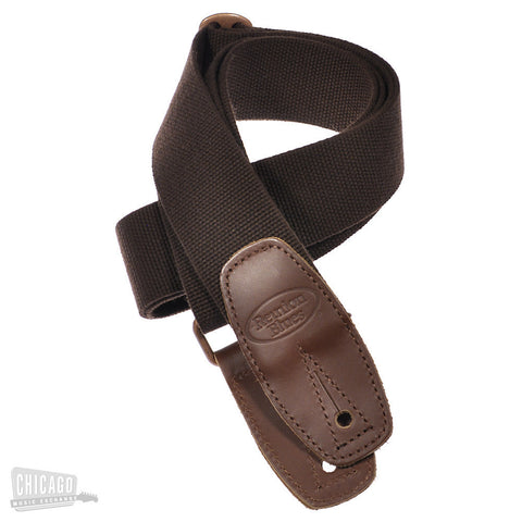 Reunion Blues Merino Wool Guitar Strap Brown