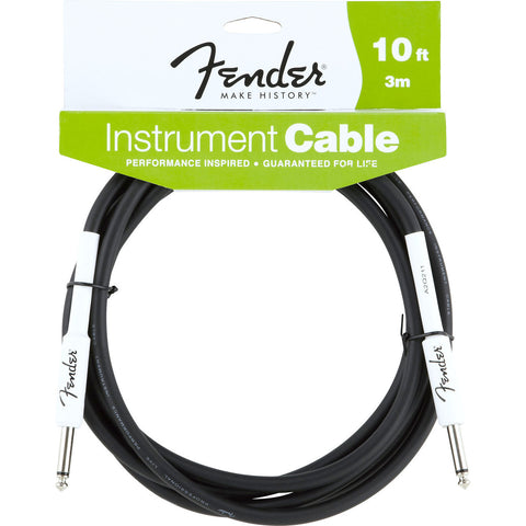 Fender Performance Series Instrument Cable 10' S/S Black