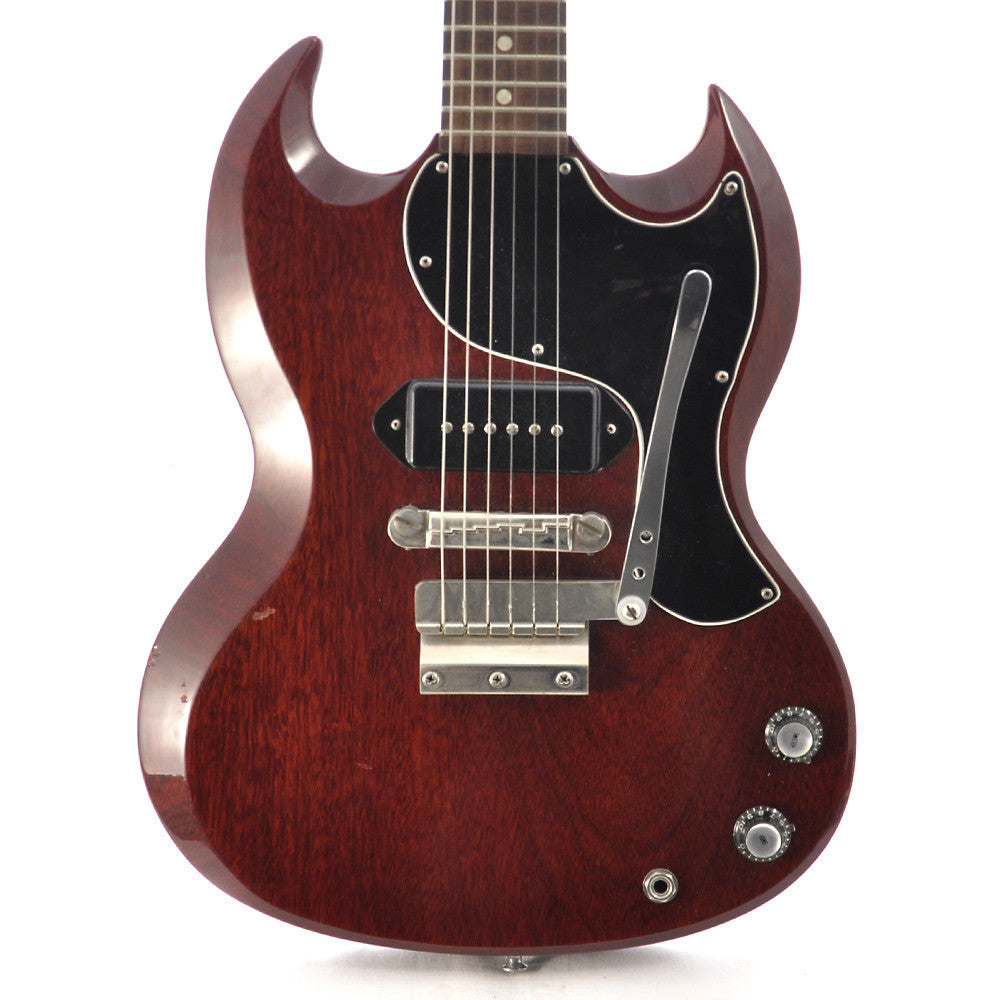 gibson les paul sg jr cherry 1963 with tremolo price reduced chicago music exchange. Black Bedroom Furniture Sets. Home Design Ideas