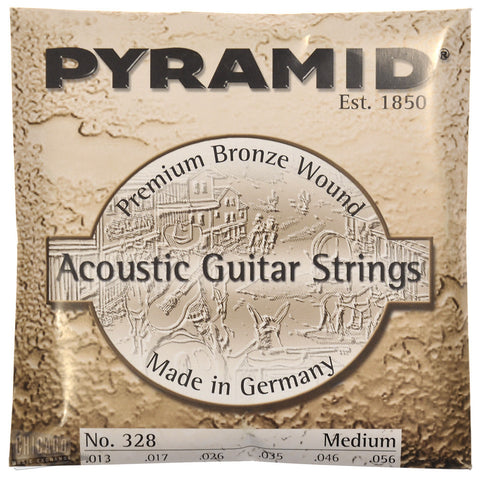 Pyramid Premium Bronze Acoustic Guitar Strings Medium 13-56