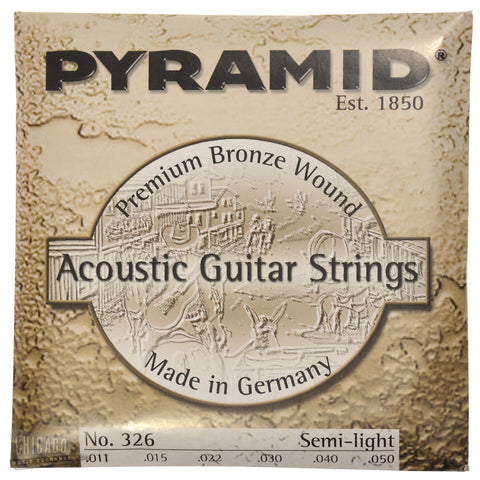 Pyramid Premium Semi-Light Phosphor Bronze Acoustic Strings 11-50