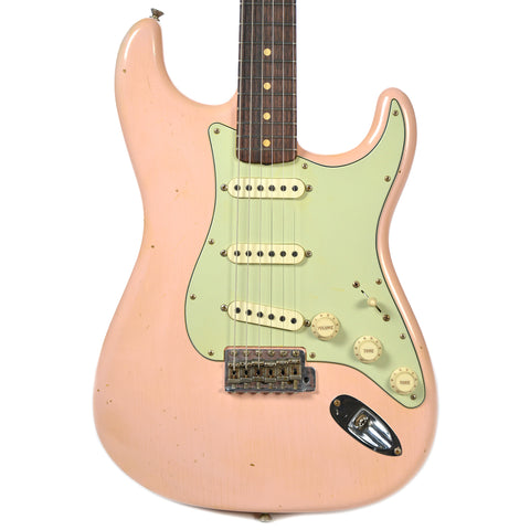 Fender Custom Shop 1963 Stratocaster Journeyman Relic Faded Shell Pink (Serial #R89816)