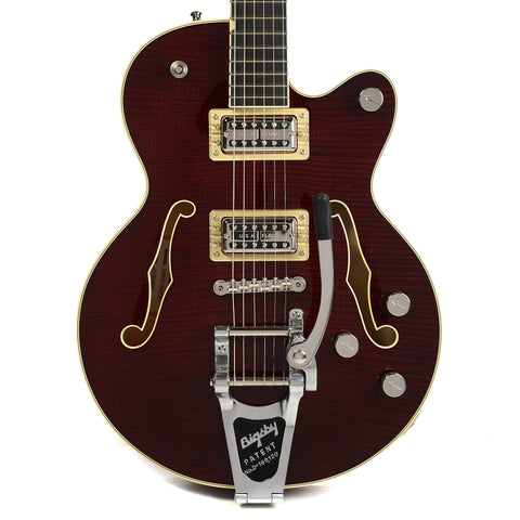 Gretsch G6655TFM Players Edition Broadkaster Jr. Center Block Single Cutaway Dark Cherry Stain w/Bigsby