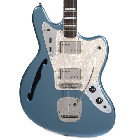 Bilt S.S. Zaftig Lake Placid Blue Metallic w/Lollar Regal Pickups, Block Inlays, & Mastery Vibrato