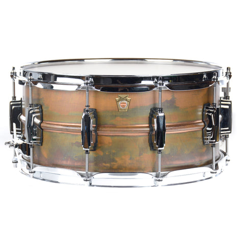 Ludwig 6.5x14 Copper Phonic Smooth Raw Shell Imperial LugsSnare Drum