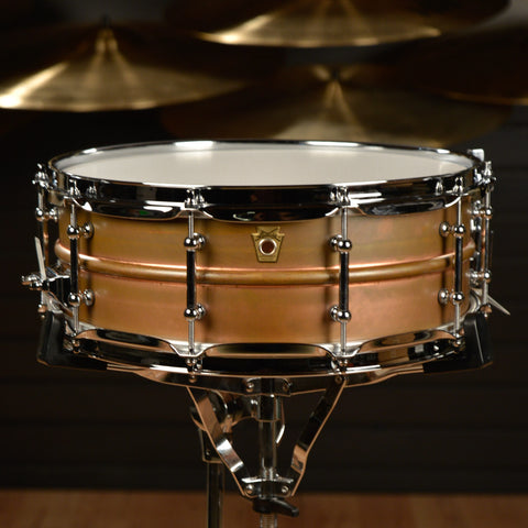 Ludwig 5x14 Raw Copper Snare Drum w/Tube Lugs