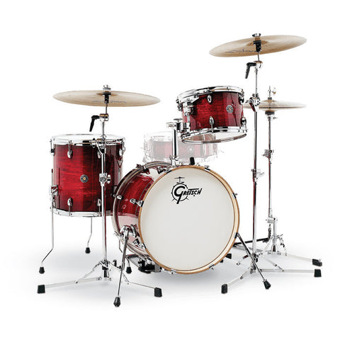 Gretsch Catalina Club Jazz 12/14/18 3pc Drum Kit Gloss Crimson Burst
