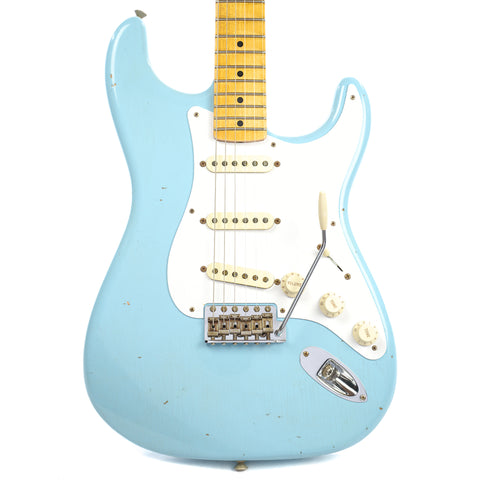 Fender Custom Shop 1958 Stratocaster Journeyman Relic MN Faded Daphne Blue (Serial #R88161)