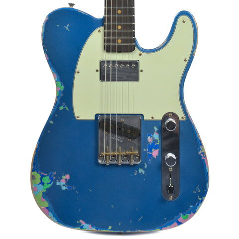 Fender Custom Shop Limited 60's HS Telecaster Heavy Relic Aged Lake Placid Blue Over Blue Flower