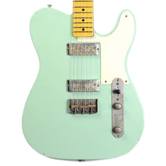 Nash GF-2 Surf Green MN Medium Relic w/1-Ply White Pickguard & Lollar Gold Foils (Serial #294)