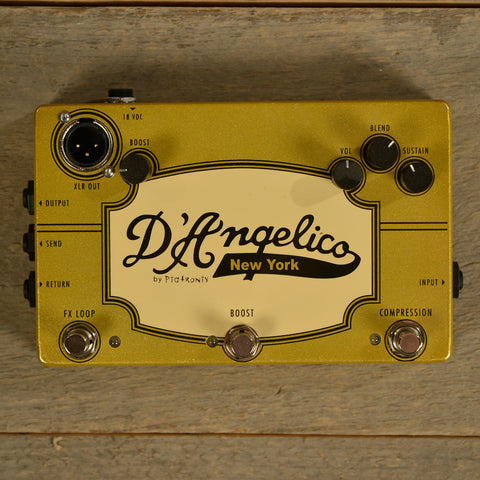 D'Angelico/ Pigtronix Jazz Pedal (Boost/ Compression/ DI/ Loop) USED