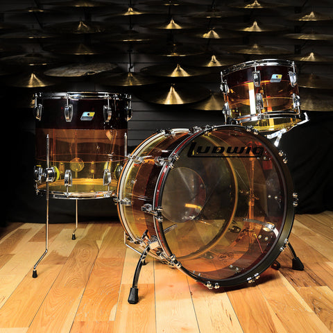 Ludwig Vistalite 13/16/22 3pc Kit Tequila Sunrise Acrylic