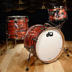 DW Jazz Series Cherry/Gum 12/14/20 3pc Kit Tiger Oyster w/Nickel Hardware