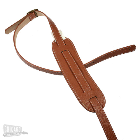 Onori Cowless 1 Inch Guitar Strap w/Moveable 2-1/2 Inch Shoulder Pad Brown
