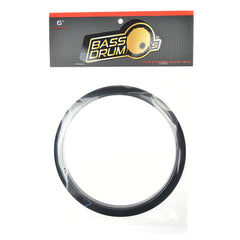 "Bass Drum O's 6"" Bass Drum Head Reinforcement Ring Black"