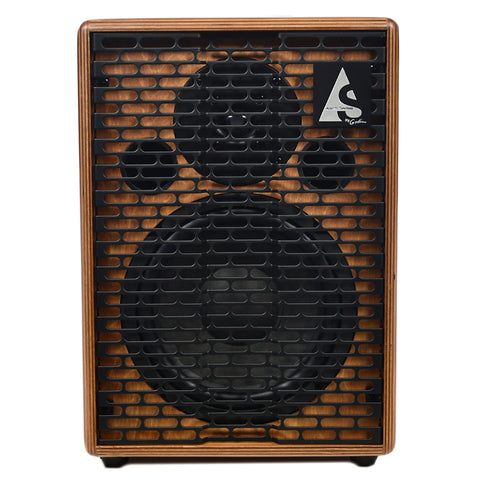 Acoustic Solutions ASG-150 150 Watt 4 Channel Acoustic Guitar Amplifier Wood