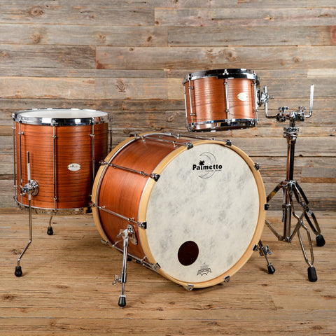 Palmetto Custom 12/16/22 3pc Solid Shell Catalpa Wood Drum Kit Natural Stain 2013 USED