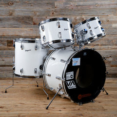 Rogers 12/13/16/22 Fullerton Era 4pc Drum Kit White 1970s USED