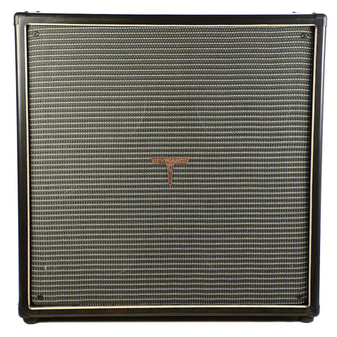Tyrant Tone 4x12 Guitar Cab Ebony & Black/Silver w/Wizard Speakers