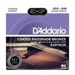 D'Addario EXP74CM Mandolin Strings EXP Phosphor Bronze Custom Medium