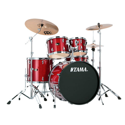 Tama Imperialstar 5pc Kit w/Hdwr & Cym 10/12/16/22/14x5 Candy Apple Mist