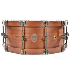 "A&F Drum Co. 7x16"" Mahogany Club Snare Drum w/Mahogany Hide-A-Hoops"