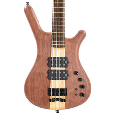 Warwick Custom Shop Corvette $$ NT Bubinga 4-String Natural Oil w/Leather Gig Bag (Serial #E16191816)