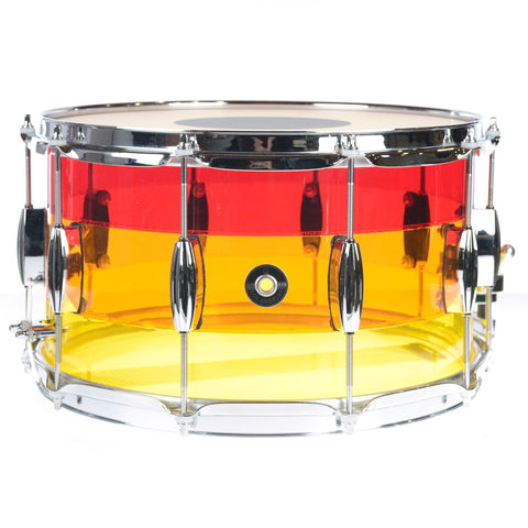 Q Drum Co. 8x14 Tri-Band Acrylic Snare Drum