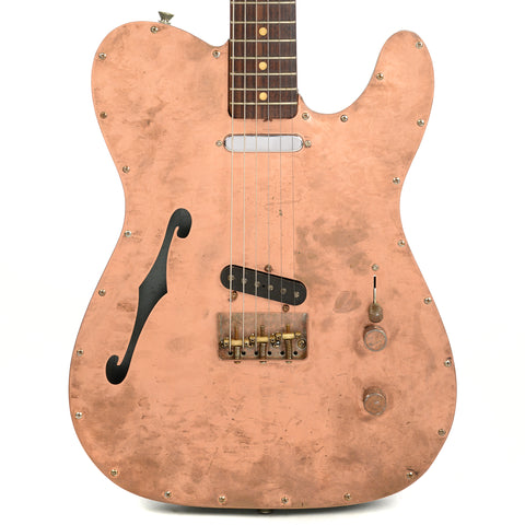 RebelRelic Radiator Thinline Copper RW w/Rebel Vintage T-64 Pickups (Serial-62045)
