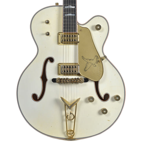 Gretsch Custom Shop G6136 1958 Falcon Relic Vintage White Masterbuilt By Stephen Stern w/Cadillac Tailpiece