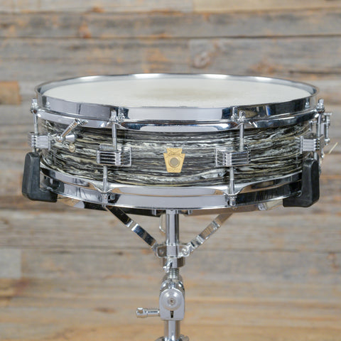 Ludwig 4x14 Downbeat Snare Drum Black Oyster 1966 USED