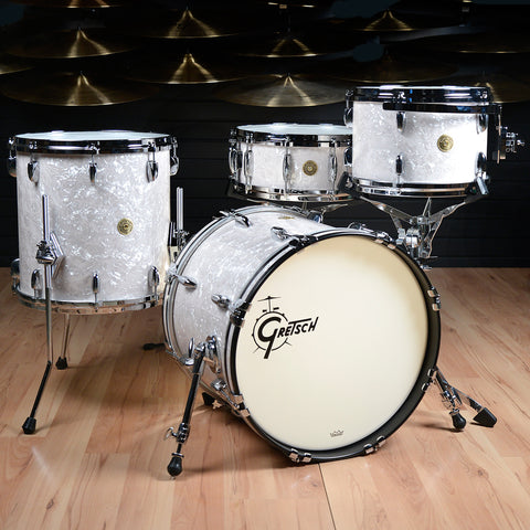 Gretsch USA Custom 12/14/18/5.5x14 4pc Drum Kit Vintage Marine Pearl Floor Model
