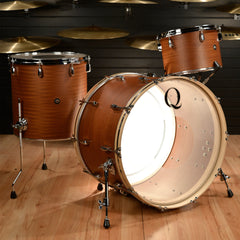 Q Drum Co. 13/16/24 Mahogany/Poplar/Mahogany Concert Tom 3pc Kit Natural Satin