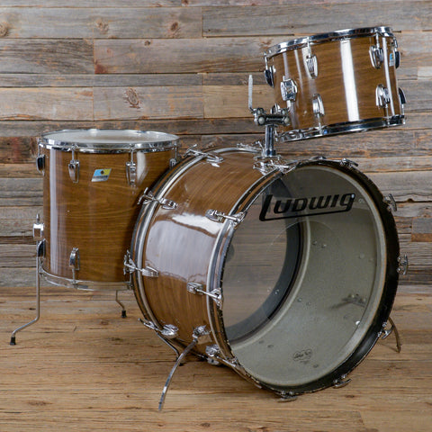 Ludwig 14/16/24 3pc Drum Kit Walnut Cortex Mid 1970s USED