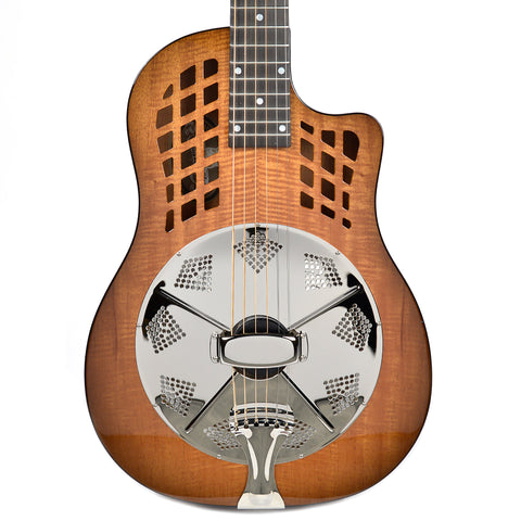 National ResoRocket Wood Body Figured MAhogany Resonator