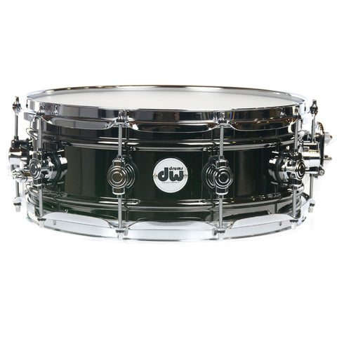 DW Design 5.5x14 Black Nickel Over Brass Snare Drum