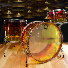 "Q Drum Co. 14/18/26 Tri-Band Acrylic 3pc Kit ""Tequila Sunrise"""