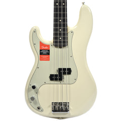 Fender American Pro Precision Bass LEFTY RW Olympic White w/Mint Pickguard