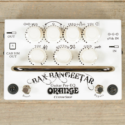 Orange Bax Bangeetar Pro EQ Pedal White USED
