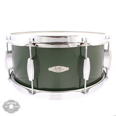 C&C 6.5x14 Custom Maple/Gum 6 Ply Snare Drum Cadillac Green High Gloss
