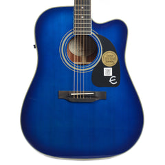 Epiphone PRO-1 Ultra Dreadnought Acoustic Trans Blue Floor Model